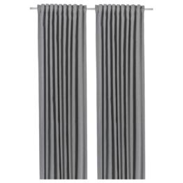 IKEA BLÅHUVA 2 Gardinenschals (abdunk.) Textilien > Vorhänge & Gardinen > Gardinen, Hellgrau