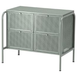 IKEA NIKKEBY Kommode mit 4 Schubladen Möbel > Kommoden & Schubladenubladenschränke > Kommoden, Graugrün
