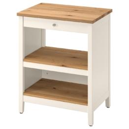 IKEA TORNVIKEN Kücheninsel Möbel > Servierwagen & Rollwagen > Kücheninseln & Servierwagen, elfenbeinweiß, Eiche