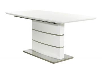 Esstisch Malibu Hochglanz weiß B/T: ca. 160 (200) x 90 cm