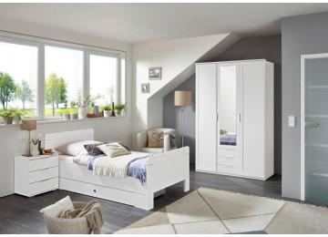 Komfortbett Nadja weiß 100 cm